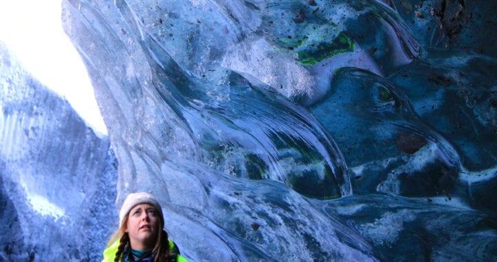 Blue Ice Cave Matanuska Glacier in Alaska