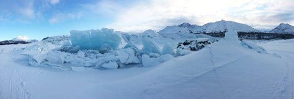 see glacier pressure ridges on an alaska glacier tour