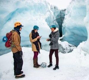 winter glacier tour of matanuska glacier alaska