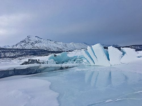 Enjoy the Matanuska Glacier during the winter months