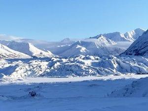 Terminus on Matanuska Glacier Winter Tour