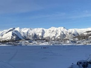 View of the Talkeetna Mountains on a Winter Tour