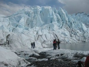 Touring the glacier