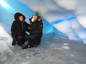 winter activities at Matanuska Glacier