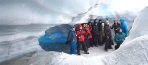 winter activities on the Matanuska Glacier